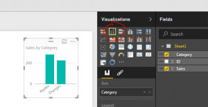 Power BI Desktop Bar Chart