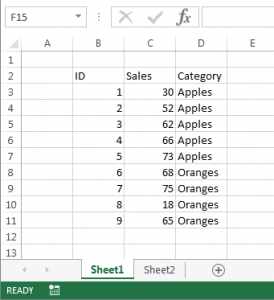 Excel Data Image