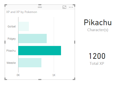 Selecting Pikachu