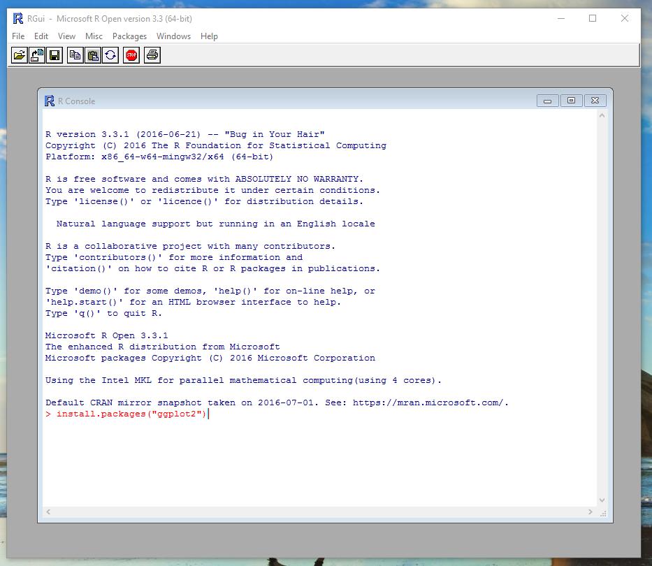 Install ggplot2 Code