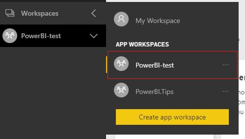 App Workspace