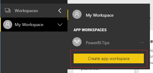 Create App Workspace