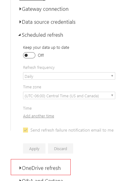 OneDrive Refresh